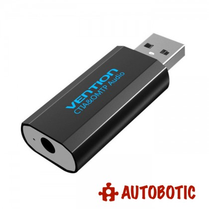 USB External Sound Card with AUX 3.5mm Mic / Audio Adapter