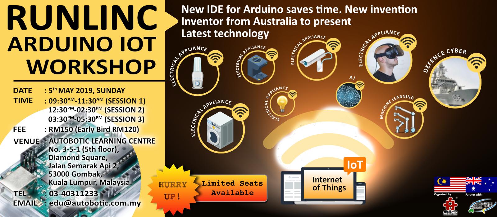 Runlinc Arduino IoT Workshop
