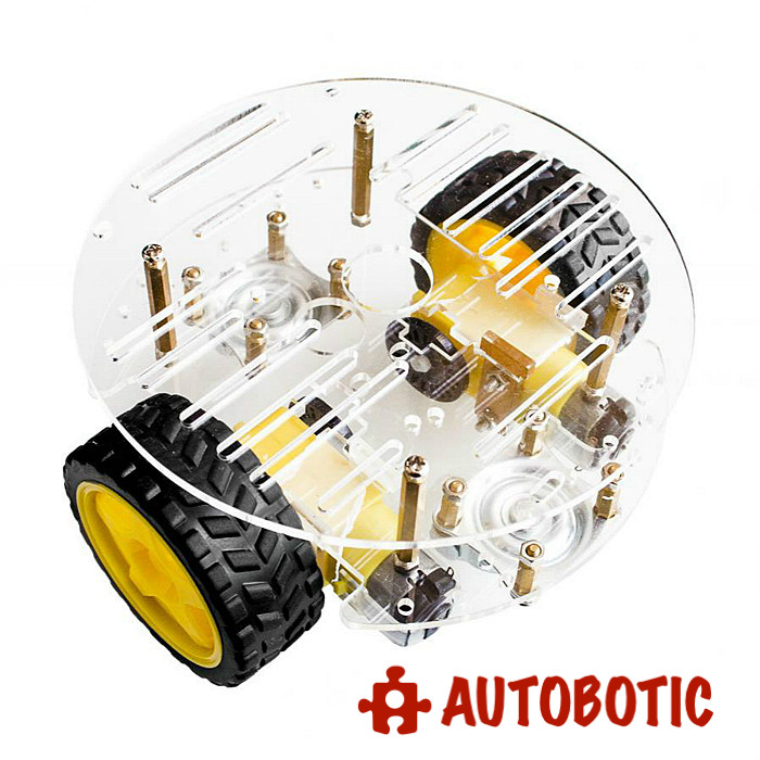 Chassis 2wd Round Set Smart Car With Layer Kit Motor Arduino Robot Dc 2 7gIvYb6fy